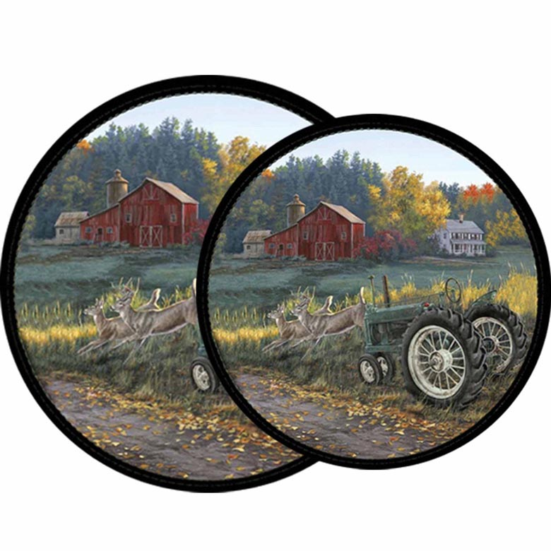 Country Farm - Tractor Morning Run Burner Covers