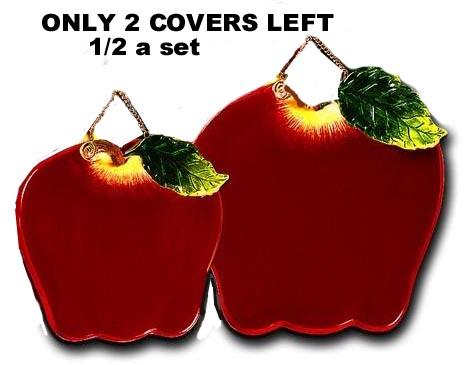! 2 COUVERCLES Couvertures en céramique pour brûleurs de pommes NETTOYAGE