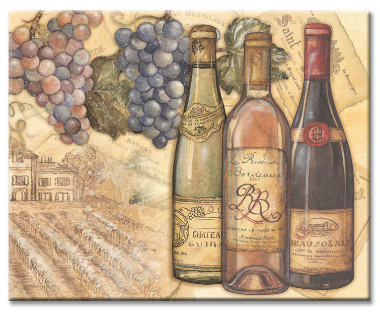 A  Grape Wine Theme Cuttingboard - Vineyards