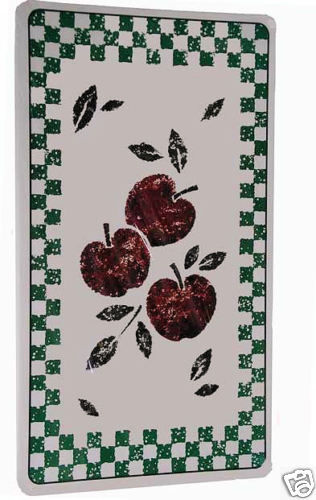 3 Apples-Rectangular Double Metal Burner Covers