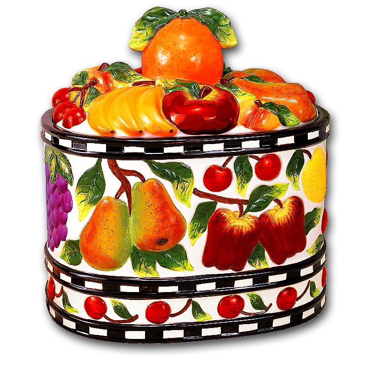 Mixed Fruit Cookie Jar/Breadbox