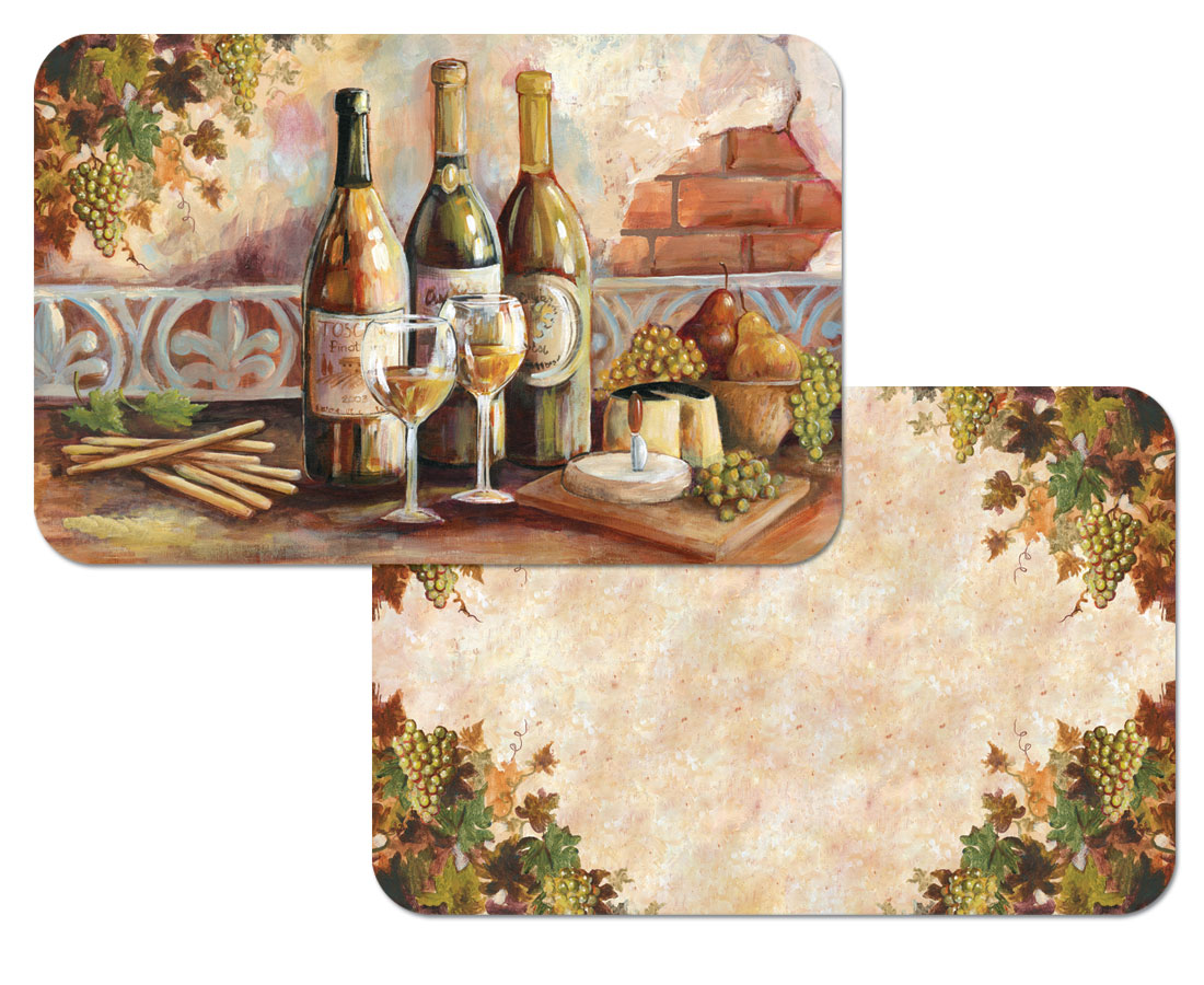 A Grape Wine Theme - Tuscan Pinot Plastic Placemat