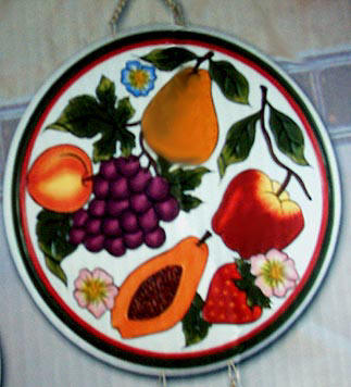 Country Fruit Harvest 4 Ceramic Stove Burner Covers