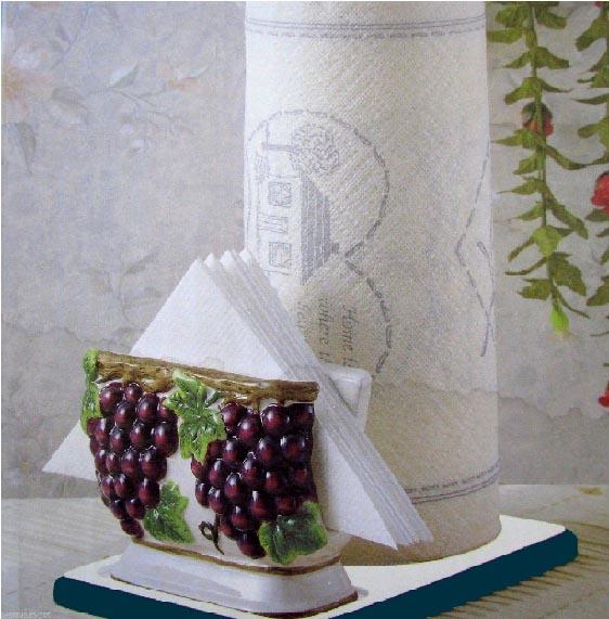 Paper Towel napkin Holder - Grape