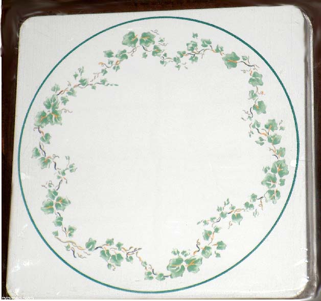 * Corelle Callaway Ivy Leaves on Round  Metal Burner Covers