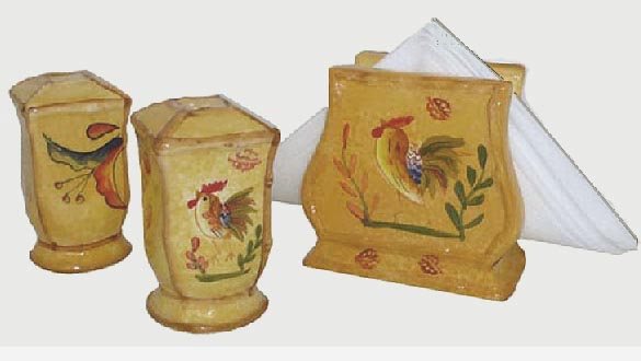 Bamboo Rooster napkin set