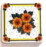 ~ Country Sunflower-Square  Metal Burner Cover