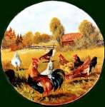 `Round Roosters- Metal Burner Covers