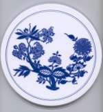 `Blue Flower - Floral Round Metal Burner Ccovers
