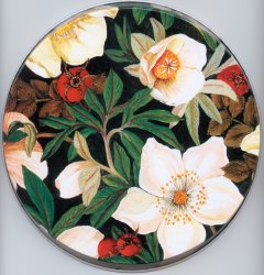 `Cherry Blossom - Floral Round Metal Burner Ccovers