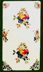 _ A Fruit on White Double Rectangle Metal Burner Cover