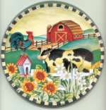 `Cow Barn Round Metal Burner Covers