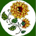 `One Country Sunflower- Round Metal Burner Cover