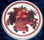 ~ Grapes Cherries Apple Fruit Basket Metal Burner Covers