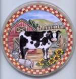 `Burner Covers New Cow Round Metal