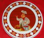 Red Chef Themed Stove Metal Burner Covers