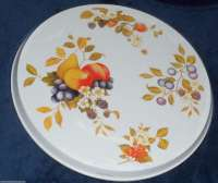 Fruit on White Round Metal Burner Covers