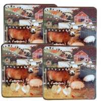 Barnyard Farm Decor Square Stove Burner Covers