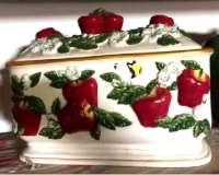 * Boîte à pain en céramique hermétique Apple Orchard