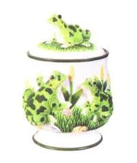 A Frog Cookie Jar/Canister