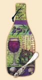 `Cheese Cutting Board Wine Bottle Wine Collage