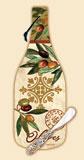 `Oliva Wine Bottle Glass Cheese Cuttingboard & Spreader