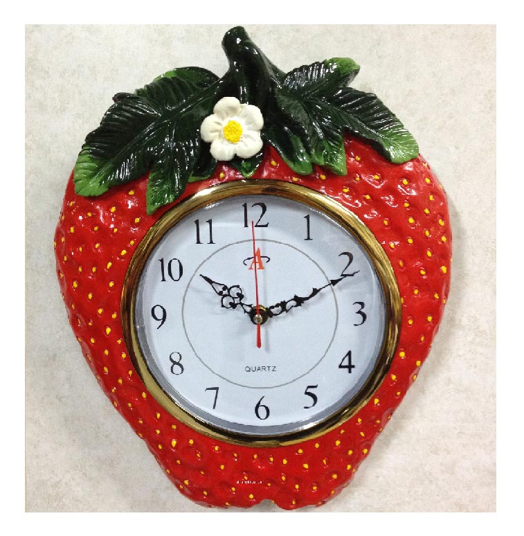 Ceramic Wallclock Strawberry