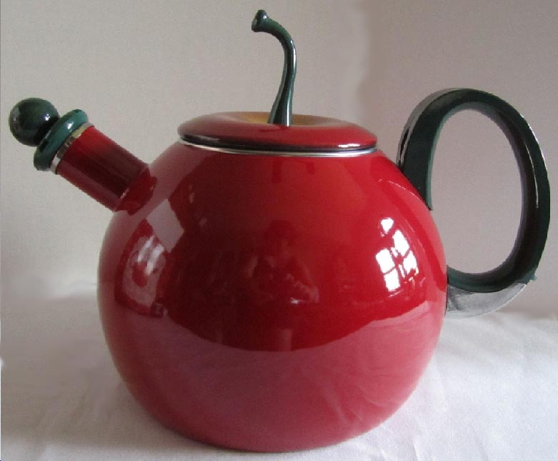 ~ Whistling Teakettle / Teapot Copco Brand Red Apple