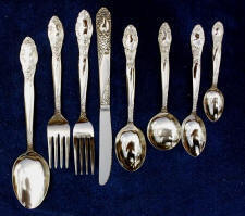 Regency Stainless Steel Flatware Service for 12