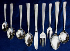 Victoria Stainless Steel Flatware Service for 12