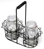 Clear Glass Salt & Pepper with Basket