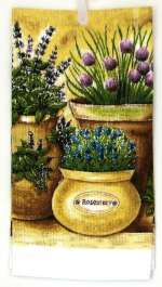 A 2 pc Cotton Kitchen Towel - Rosemary And Herbs