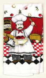 2 Bistro Chef Designer Kitchen Towels