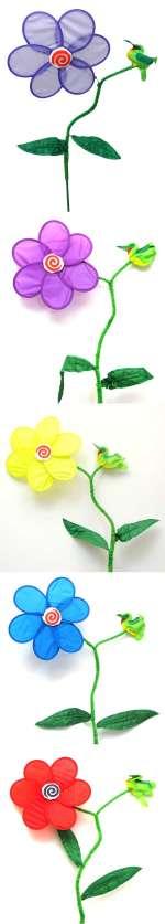 ~Flower Hummingbird Wind Spinner