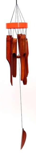Bamboo Windchime Orange Ring