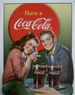Tin Sign Coke Young Couple
