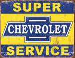 Tin Sign - Super Chevy Service