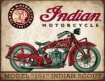 Tin Sign - Indian Scout