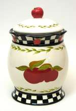 A Ceramic Apple Cookie Jar