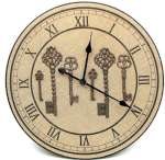 Wood 23 inch  Burlap Wall Clock