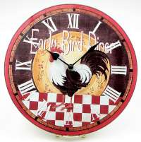 * Early Bird Diner Rooster Wall Clock