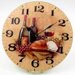 A Glass Grape/Wine Wallclock