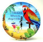 Paradise Wall Clock `Where Its Always Five OClock`