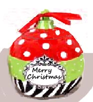 Christmas Ornament Goodie/Cookie Jar
