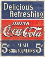 Tin Sign - Coke - Delicious 5 Cents