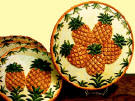 `4 Ceramic Pineapple Stove Burner Covers