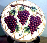 A Ceramic Burner Cover Set - Grape Vine