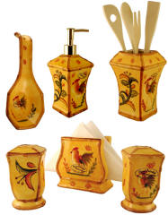 Bamboo Rooster Accessories set