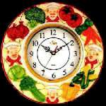 Wallclock -Ceramic Fat Gourmet Kitchen Chef
