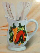 Chili Pepper Pitcher Utensil Holderl